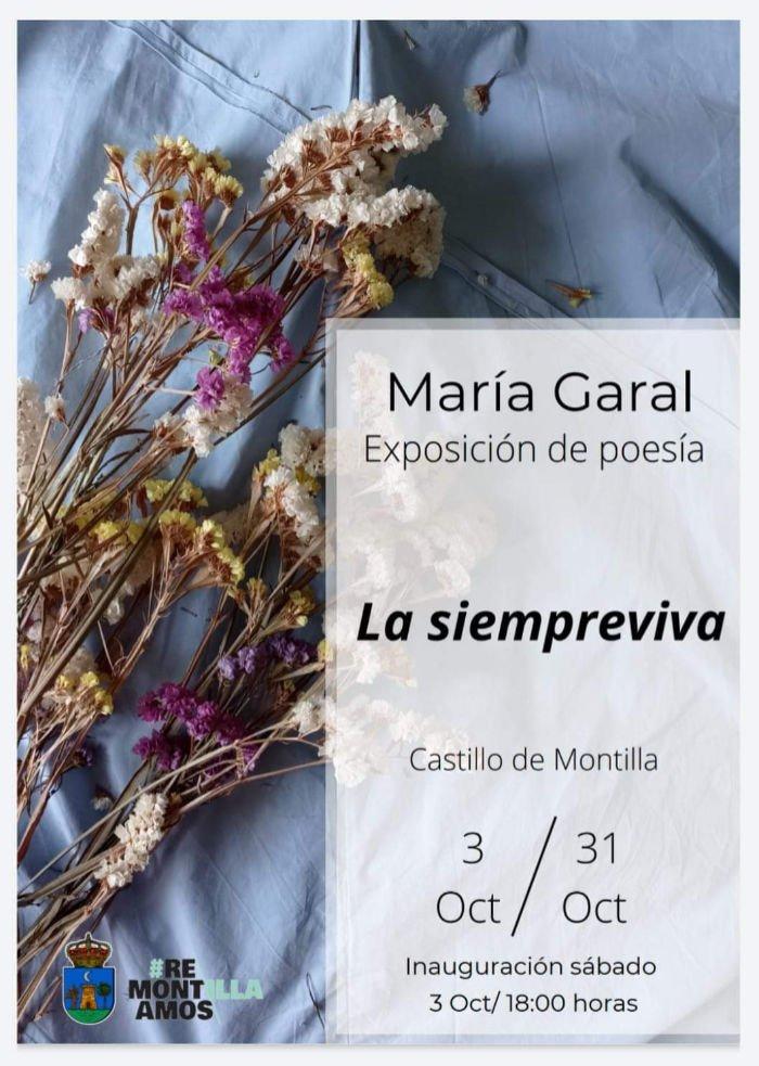 agenda poesía María Garal we love montilla moriles