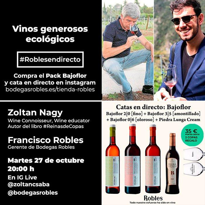 Cata vinos generosos ecológicos Zoltan Nagy y Francisco Robles we love montilla moriles