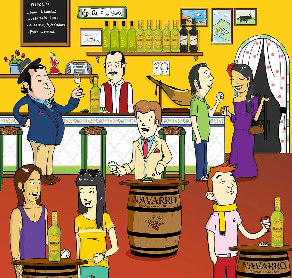 ilustracion pilycrim bodegas navarro we love montilla moriles cordoba