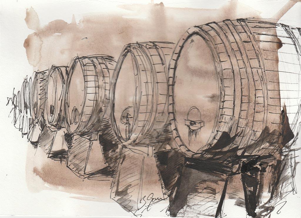 barriles ilustracion vino we love montilla moriles cordoba