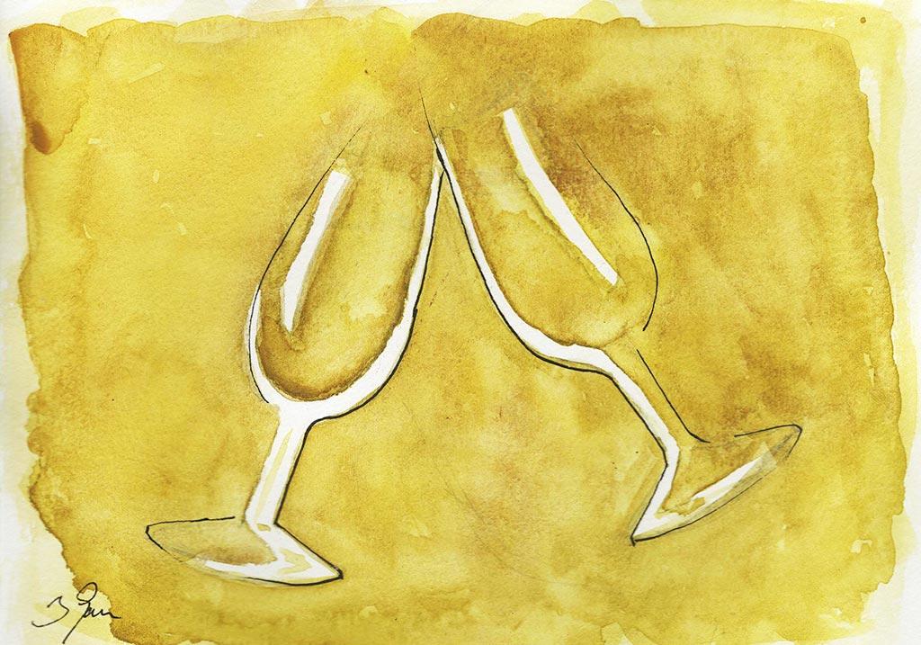 ilustracion copas de vino we love montilla moriles cordoba
