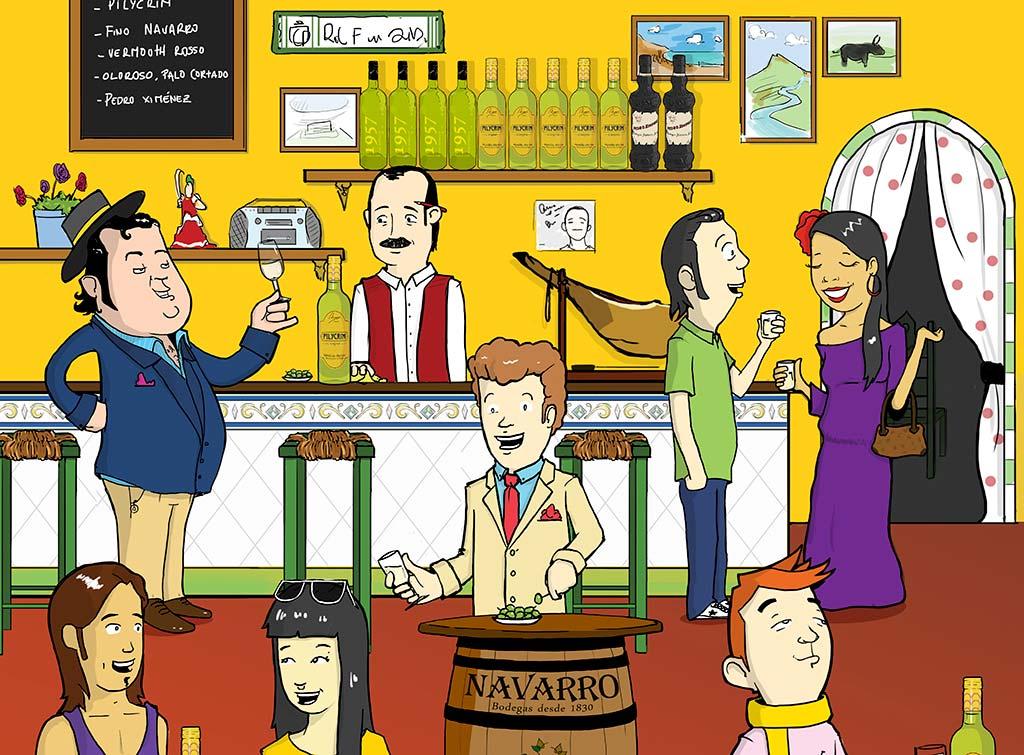 pilycrim-ilustracion vinos we love montilla moriles cordoba