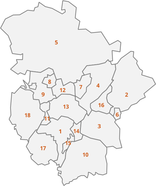 mapa de la campiña cordobesa we love montilla moriles