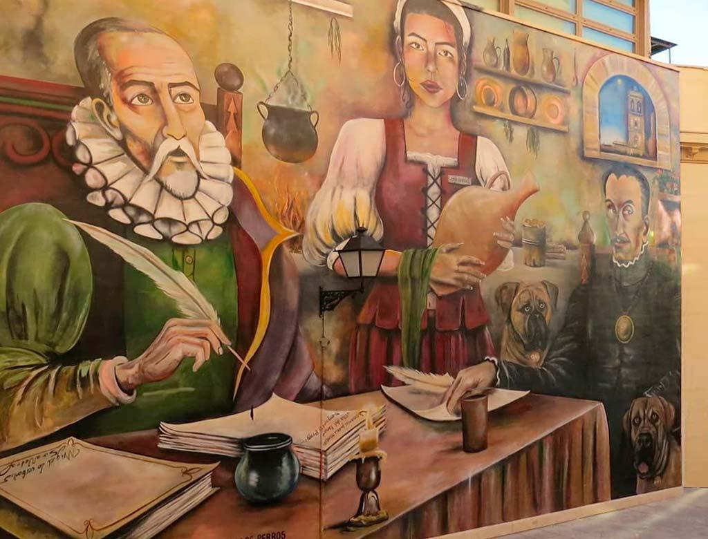 Mural-Cervantes-Montilla-Córdoba-we-love-montilla-moriles