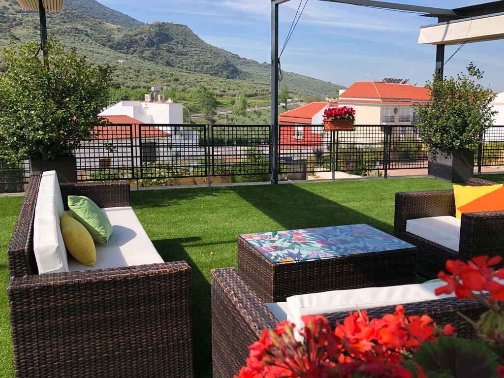 Terraza de verano Hotel Nueva Mencía - We Love Montilla Moriles Cordoba