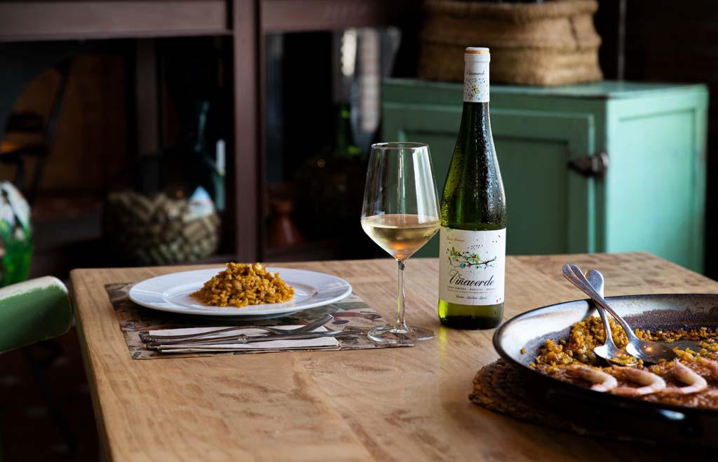 arroz con viña verde, los lagares - we love montilla moriles