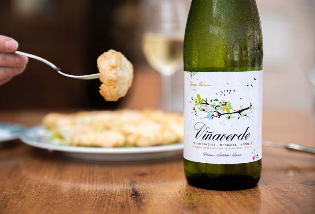 araña con viña verde, restaurante torres - we love montilla moriles