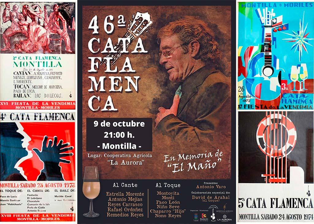 Cartel Cata Flamenca 46 edicion, Montilla, Córdoba - We love Montilla Moriles